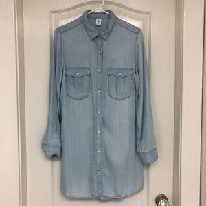 H&M 100% Lyocell Button Down Dress Shirt